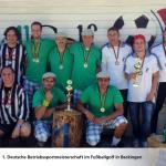 Die drei Erstplatzierten Mannschaften der 1. Deutschen Betriebssportmeisterschaft in Fußballgolf 2013